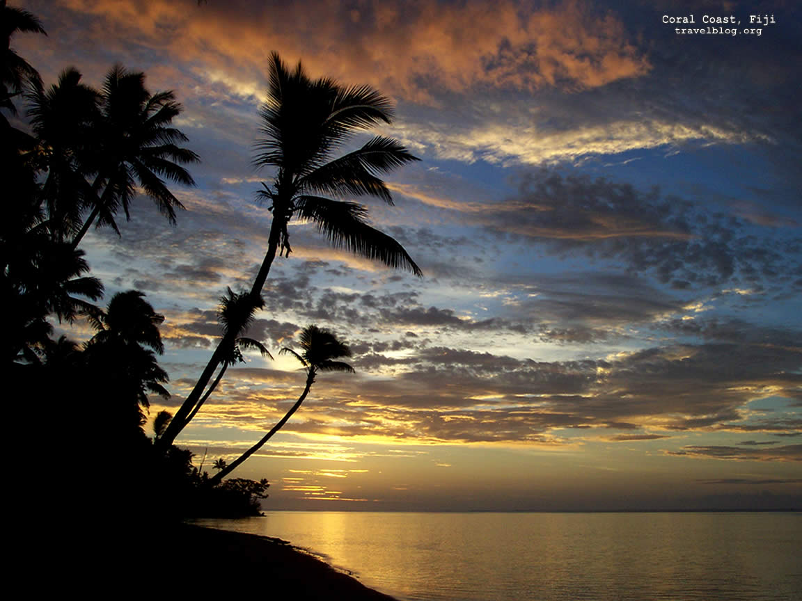 Sunset Wallpaper, Coral Coast, Fiji