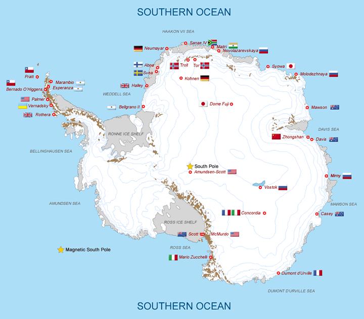 Antarctica Travel Blogs Photos And Forum - Antarctic research stations map