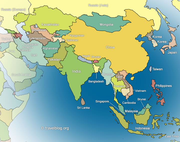 Map Of Modern Asia.Asia Travel Blogs Photos And Forum